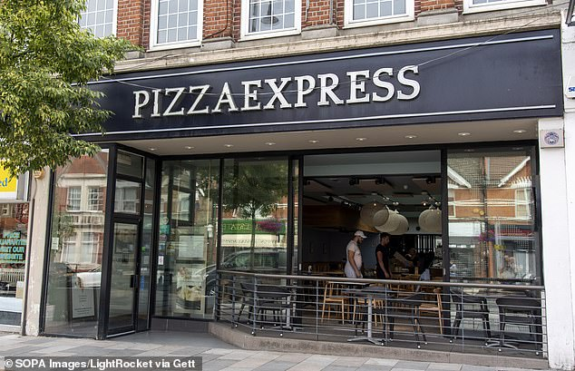 The Pizza Express (file image) chain also faced a backlash when it was revealed that it skimmed off waiters' tips so that it could pay more to kitchen workers