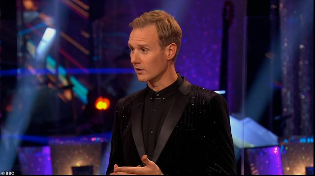 Out of his comfort zone: Next up, Dan Walker admitted that waltzing into a world of glitter and daring costumes is something he's not particularly at ease with, saying: 'I've never undone two buttons in my life!'