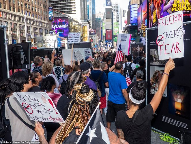 Numerous protesters carrying placards thronged the streets of Midtown in a bid to draw awareness to their cause