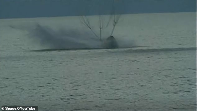 The Inspiration 4 capsule carrying four civilian crew members makes a safe return to Earth as it lands in the Atlantic Ocean on Saturday