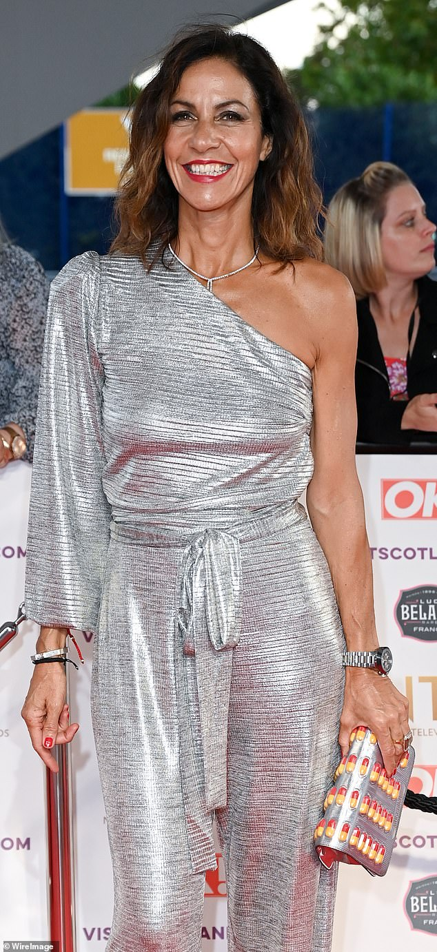 BRAVE FACE: Julia at the TV awards in the outfit that said 'goodbye to the body I've been living in'