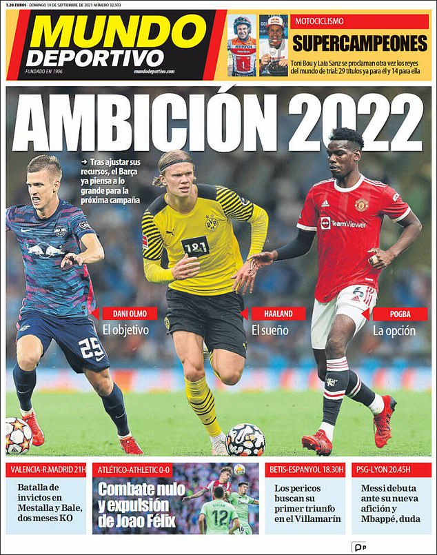 But Mundo Deportivo claim Barcelona will be more ambitious in the next summer window