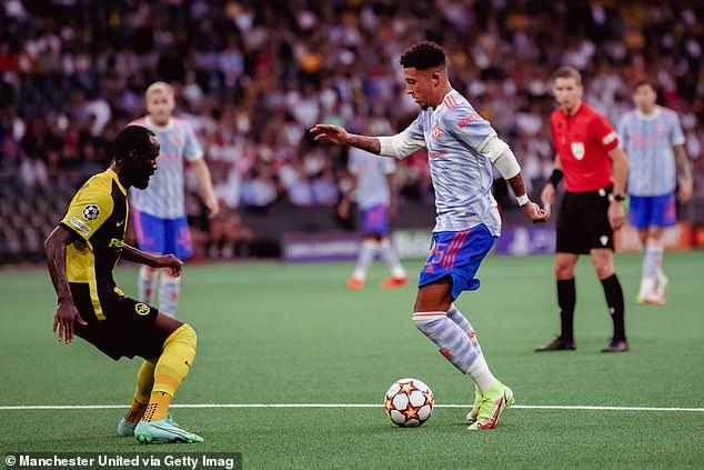 The United manager also says Sancho iscurrently 'learning how to play in the Premier League'