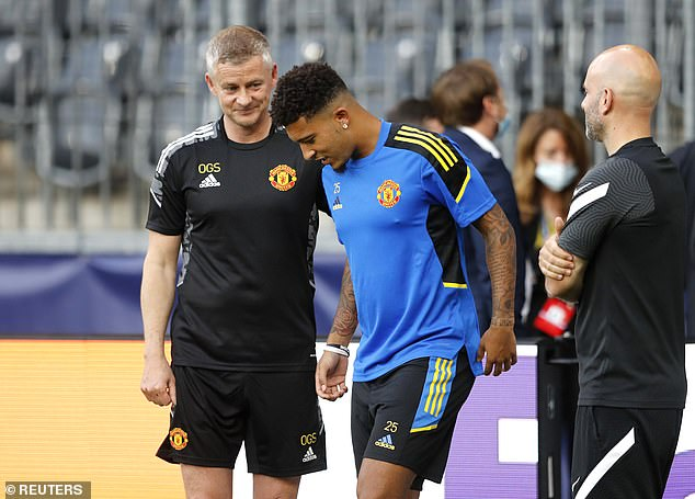 Nevertheless, Solskjaer believes Sancho will become a star in '15 years' as he is 'improving'