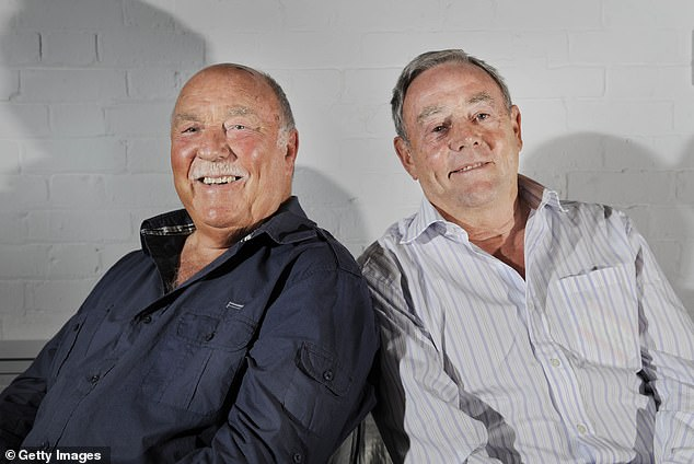 As well as a successful playing career, Greaves (left) co-presented popular Saturday lunchtime football show 'Saint and Greavsie' alongside Ian St John (right)