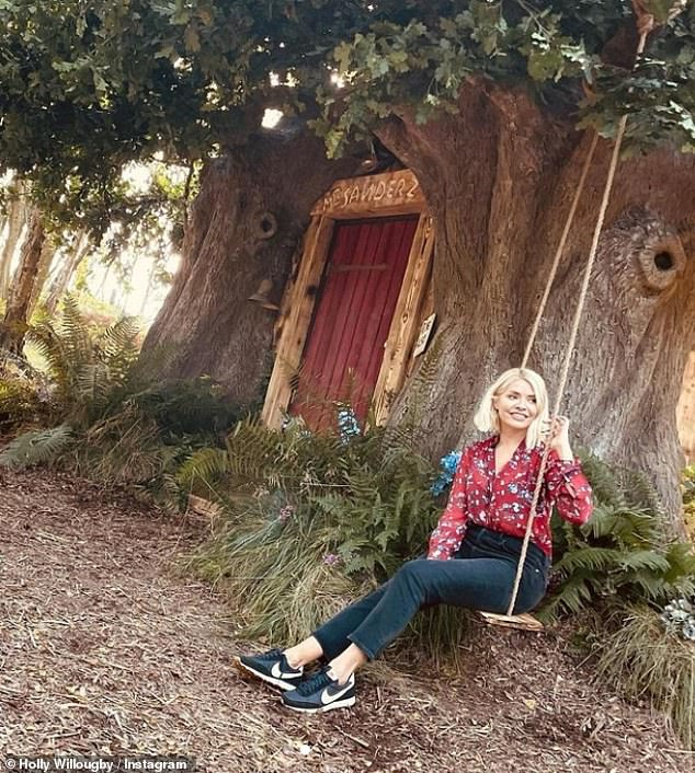Fantasy: Over the weekend, Holly enjoyed a staycation with her daughter Belle as they visited the 'real-life' home of Winnie the Pooh