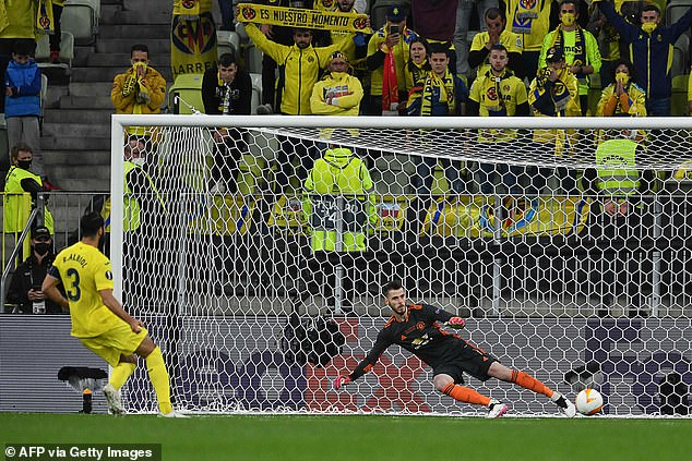 De Gea infamous missed all 11 penalties against Villarreal in the Europa League final in May