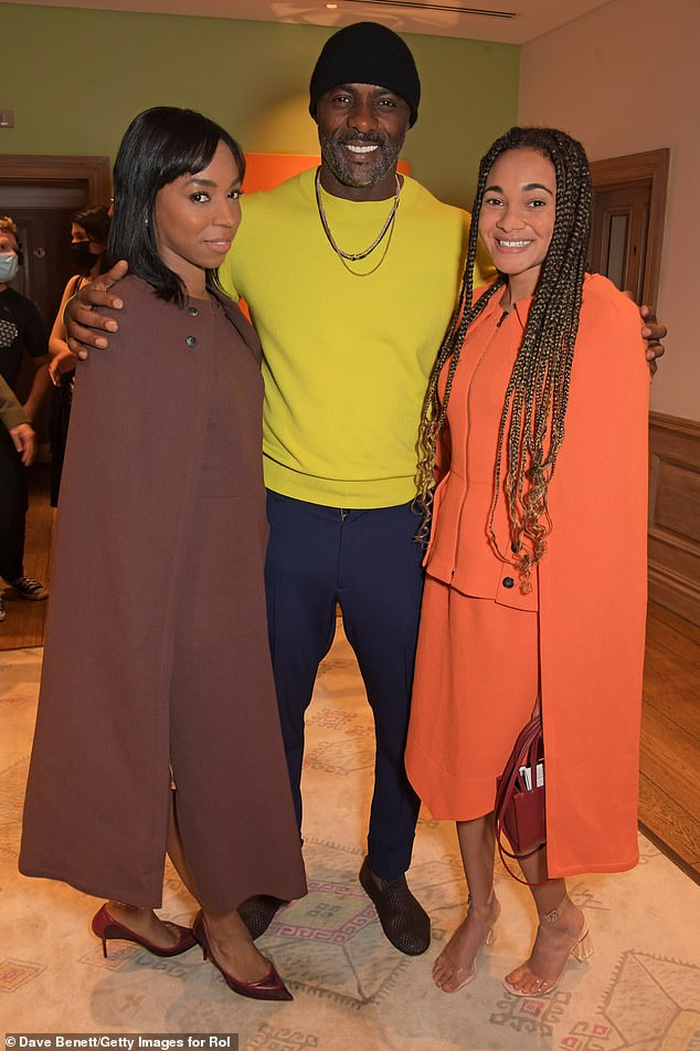 Revenge flick:The revenge flick starring marks Idris' second time on a saddle after starring in Netflix's Concrete Cowboy last year. Pictured withPippa Bennett-Warner and Alice Dearing