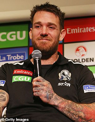 Humiliation: Several jokes about Nadia Bartel's white-powder scandal were censored during Sportsbet's live coverage of the Brownlow Medal, hosted by former AFL player Dane Swan (pictured)