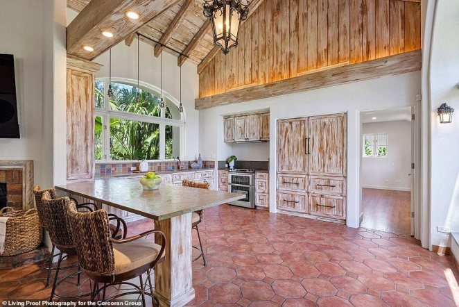 The dining room provides a rustic atmosphere
