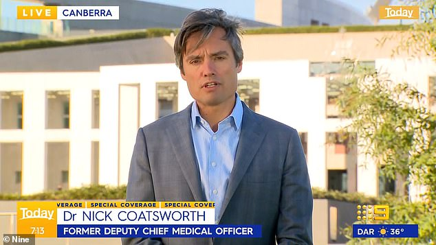 Dr Nick Coatsworth (pictured) has blasted the Burnet Institute modelling that informed Victoria's roadmap out of lockdown
