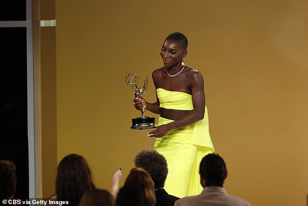 Emmy Winners: The 33-year-old actress and writer won Outstanding Writing for a Television Limited Anthology Series or Movie Sunday night for her hit HBO series I May Destroy You.