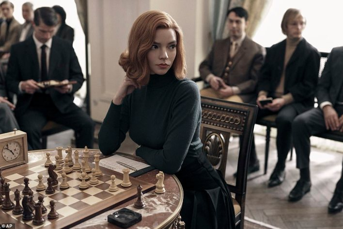 Strategy: Taylor-Joy stars as a flame-haired orphan-turned-chess prodigy in the Netflix miniseries The Queen's Gambit. She competes with international stars but battles a drug addiction that threatens to derail her career