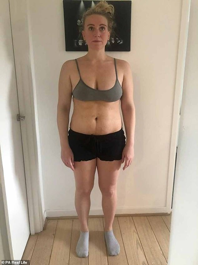 Managing director Jenny Weiner, 32 - after giving birth but before she lost the weight - says her early days as a mother were frustrated by her low self-esteem due to weight gain