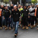 CFMEU Melbourne fight John Setka Daniel Andrews cops rubber bullets anti-lockdown riot 💥👩💥