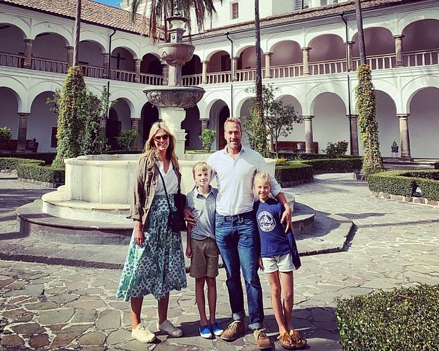 Ben, left, with his wife Marina, who founded the Parent Hood podcast, where he discusses parenting, and son Ludo, 11, and daughter Iona, ten, during a family vacation in 2019.