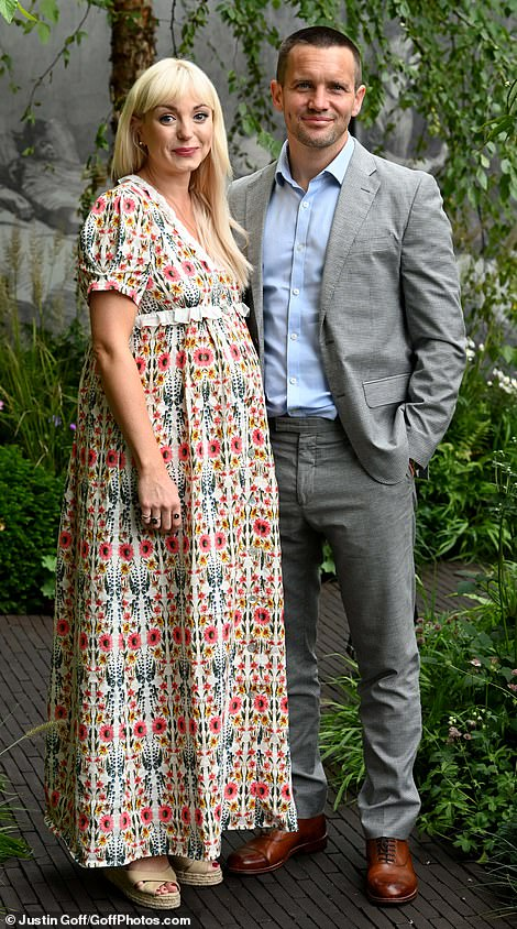 Helen George showed off her blooming baby bump today