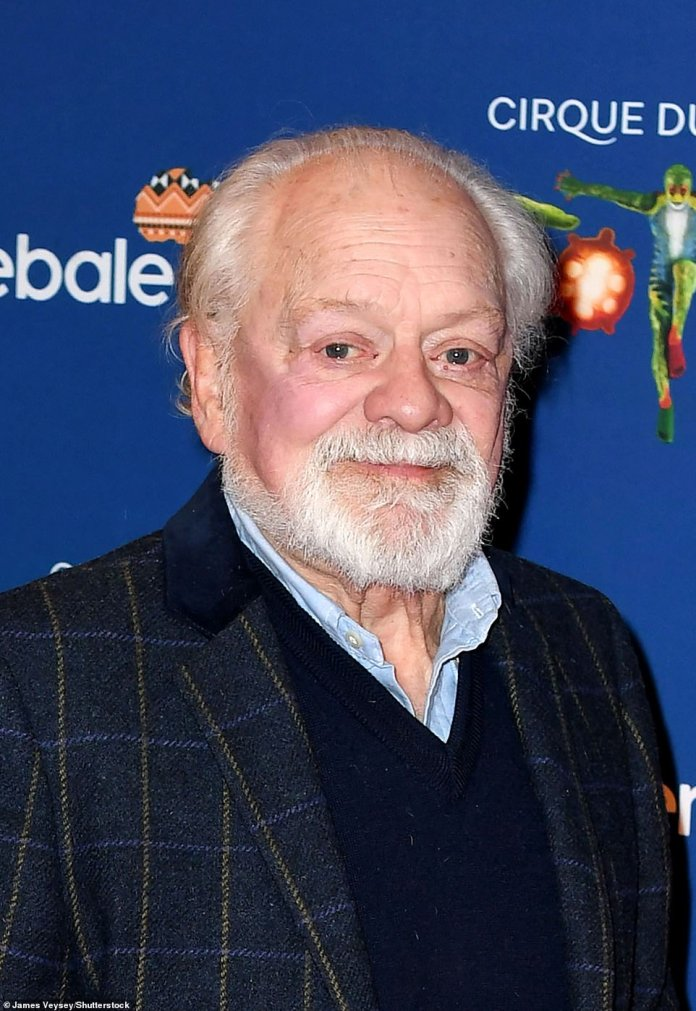 Friend: Sir David Jason (pictured) has described how his sole Fool and Horse co-star John Chalice 'walked steeply down the slope' in the last months of his cancer battle as he died at the age of 79 The latter paid tribute to the legend