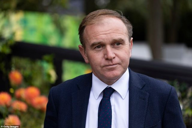 Secretary of State for Environment, Food and Rural AffairsGeorge Eustice was pictured attending theChelsea Flower Show today