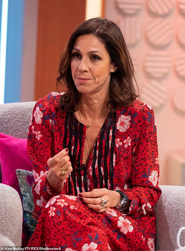 Emotional: Julia Bradbury breaks down in tears as she talks of her upcoming mastectomy following her breast cancer diagnosis (Picture 2019)