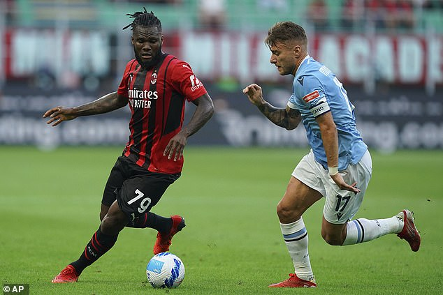 Franck Kessie (left) is being touted by Manchester United as a replacement for Paul Pogba