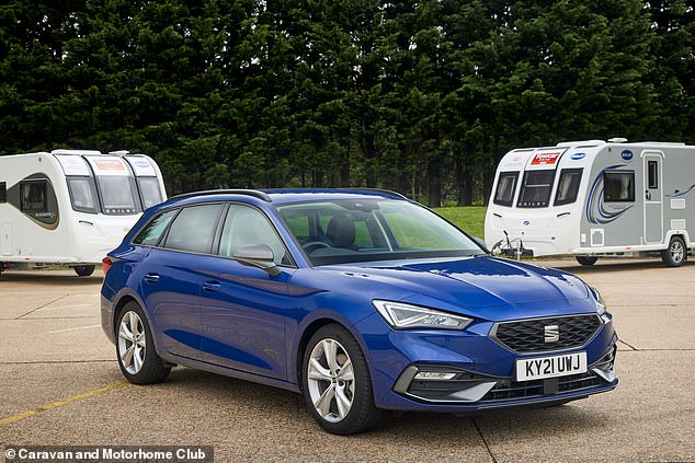 The Leon was recommended by the expert testing team for its 'vibrant performance', 'willing petrol engine' and 'restraint on speed' in which the caravan halted.