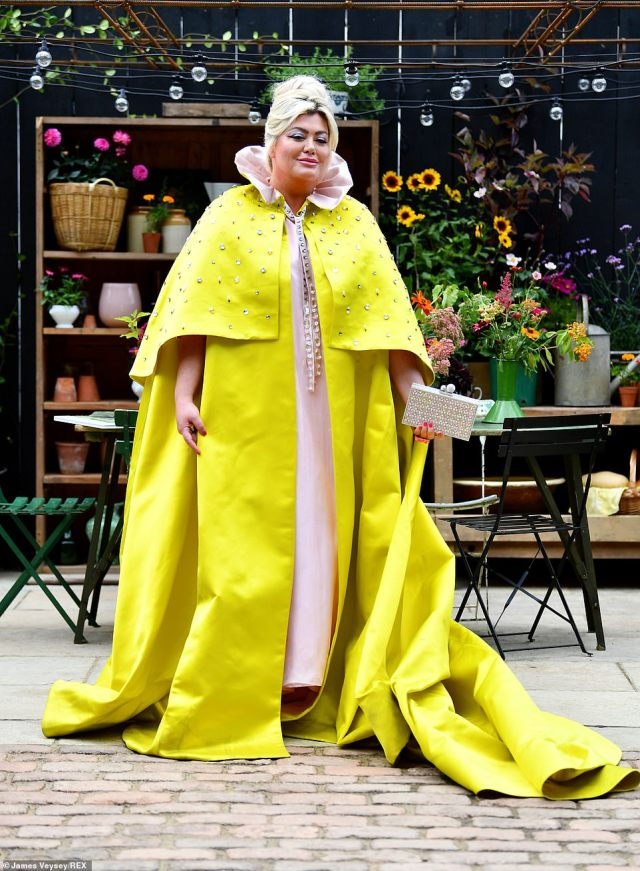 Celebrities are flocking to the Chelsea Flower Show ahead of the opening of its first ever autumn edition today including Gemma Collins (pictured)