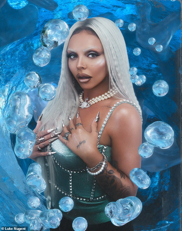Wow: The 30-year-old songstress spoke to Noctis XXI Magazine about her career since leaving Little Mix last year, while also posing for a sizzling shoot for the publication, which featured a fiery fire and ice theme and sexy Corset costumes included.