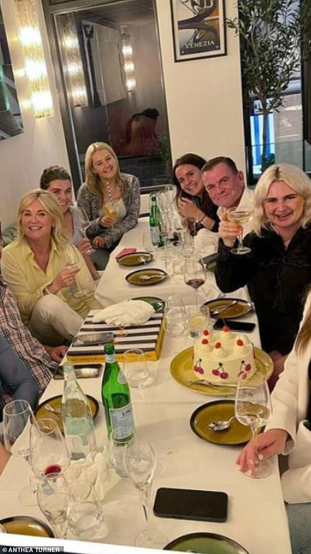 The family came together to celebrate Claudia Bowe's 25th birthday