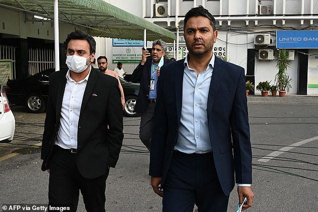 Wasim Khan (right) calls his actions outrageous to depart 'at the drop of a hat'