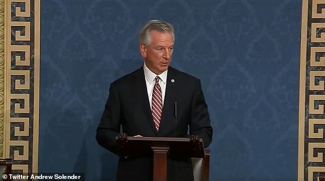 Senator Tommy Tuberville of Alabama, a staunch Trump ally, when asked which side he was on, said McConnell was doing a 'good job'.