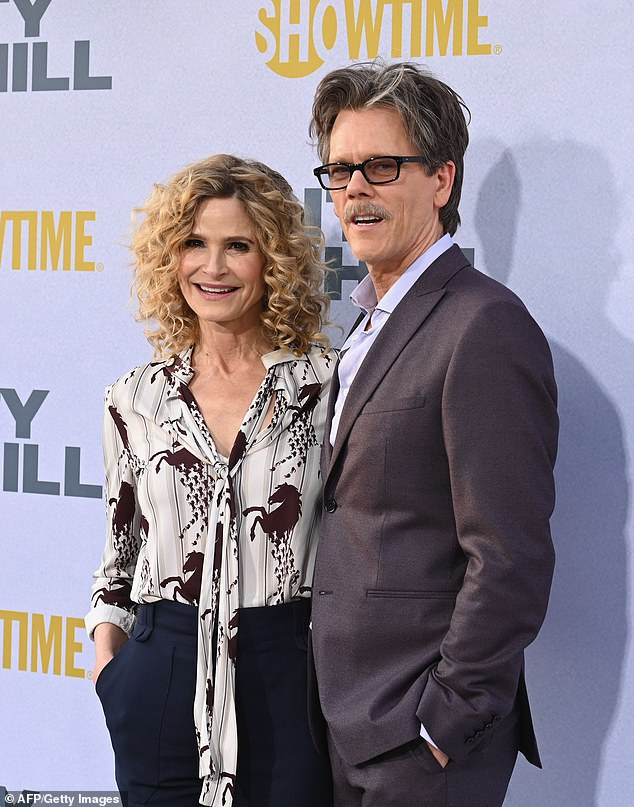 Hollywood fairytale:Bacon, 63, and Sedgwick, 56, have been married for 33 years (Pictured in 2019)