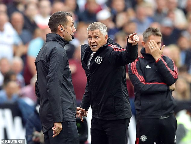 Manchester United boss Solskjaer (R) has been outraged by Ferdinand's many comments
