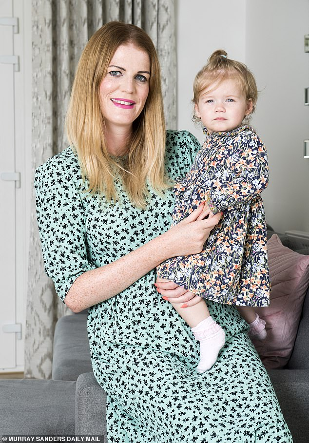 Jenny Carter (pictured with daughter Penelope) was 'phobe off' by doctors for months, before undergoing a late diagnosis and surgery to remove a tumor a year later.  The 37-year-old initially tried to meet face-to-face in March last year, when she was three months pregnant with her first child.