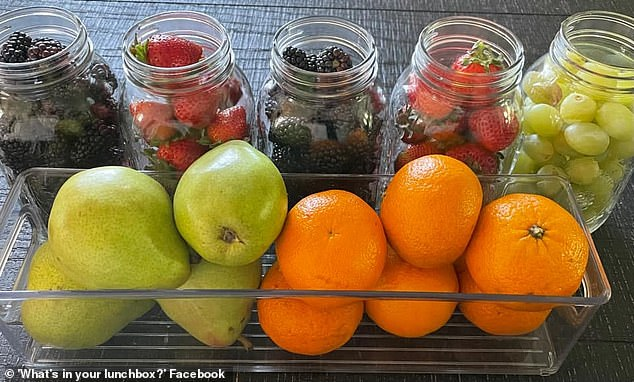 The handy food hack is said to work well with strawberries and chopped vegetables, such as cucumber
