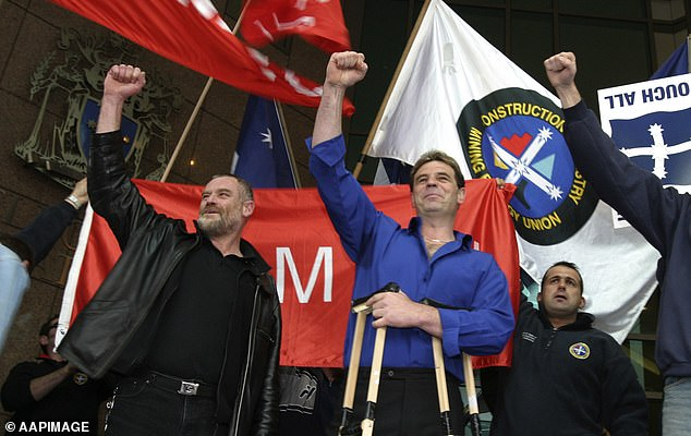 The Construction, Forestry, Maritime, Mining and Energy Union - technically the CFMMEU but often shortened to CFMEU - has about 144,000 members, or 1 per cent of the Australian workforce. John Setka is pictured (in blue shirt) as an organiser back in 2003