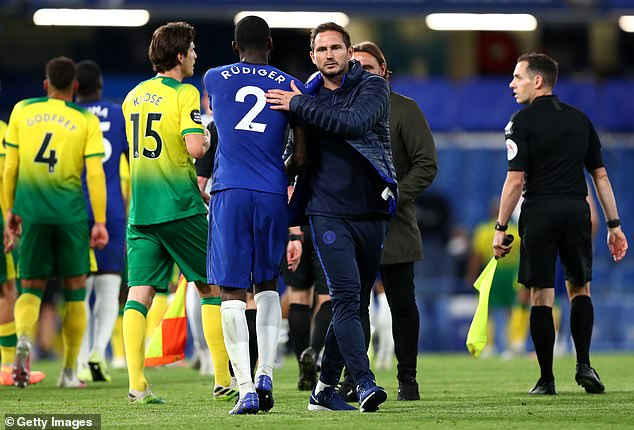 Rudiger fell down the pecking order when Frank Lampard was boss, but bounced back