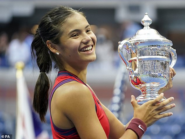 The 18-year-old Briton stunned the sporting world by winning at Flushing Meadows this month