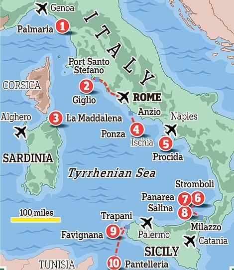 The location of our top ten secret Italian islands