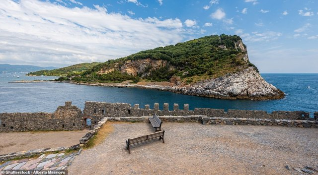 Just 33 residents occupy Palmaria, which is a 0.6 sq mile island off the coast of Cinque Terre