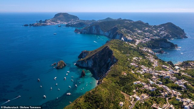 Known as the Italian Hamptons, Ponza plays host to Rome's well-heeled residents during the summer, as well as in-the-know celebrities such as Rihanna, Bruce Springsteen, Mariah Carey and Beyoncé