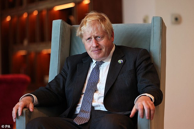 Boris Johnson (pictured yesterday in a meeting with Amazon executive chairman Jeff Bezos in New York) on Sunday night pressed GPs to offer more in-person consultations.