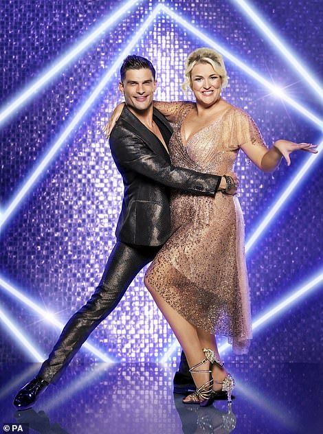 Glitzy: The two looked fabulous together in their promo shots
