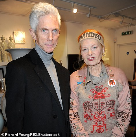 The couple was well respected by professionals across several industries worldwide (Buckley is pictured with English fashion designer Vivienne Westwood in 2009)