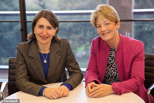 Liberal MP Catherine Cusack (pictured right with NSW Premier Gladys Berejiklian left) called for the resignation of Brad Hazzard after the case was infectious in Byron and Tweed