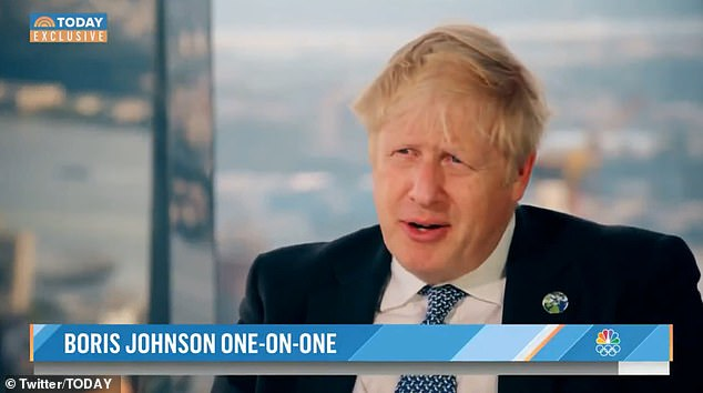 Boris Johnson sat down with NBC in New York City ahead of the United Nations General Assembly