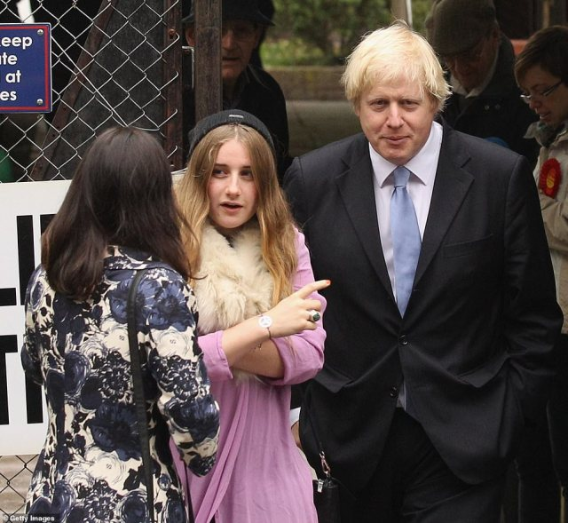Boris' daughter Lara (together in 2012) reportedly branded her father a 'selfish b*****d' after allegations he had an affair with Carrie surfaced in 2018
