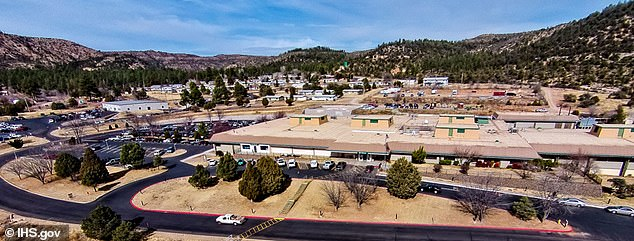 The researchers found that the monoclonal antibody treatment worked well for patients at the Whiteriver Service Unit, a health facility on the Fort Apache Indian Reservation in Arizona.  Image: Whiteriver Indian Hospital, part of the facility