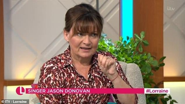 SLIP UP: Lorraine Kelly stunned viewers of her ITV chat show on Tuesday as she swore while interviewing Jason Donovan