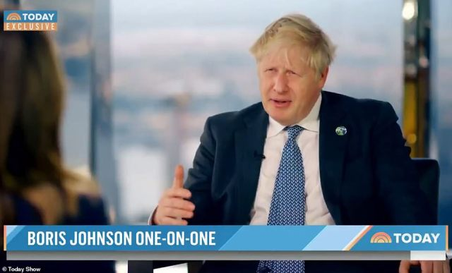 The PM told US TV that being a parent of a young child is 'a lot of hard work' before insisting that he 'changes a lot of nappies'